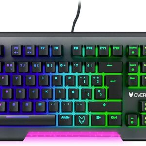 UnityJ UK Computers Oversteel IRON Keyboard Spanish 1 10
